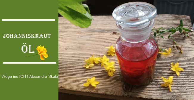 Rotöl selber machen-Johnanniskraut-Hypericin löst sich