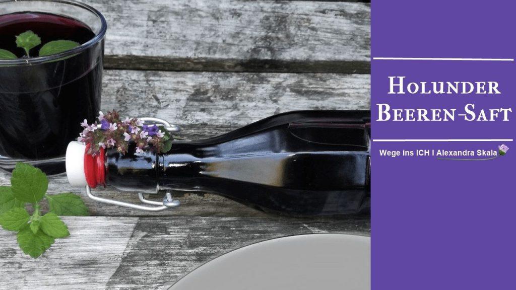 Holunder-Beeren-Saft-Selbermachen