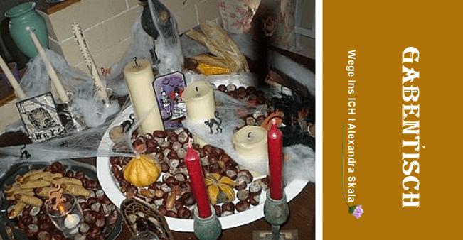 Gabentisch zu Samhain-Ahnenandacht
