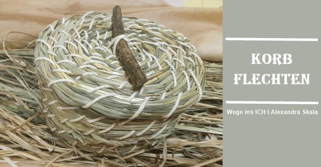 Korb aus Gräser herstellen