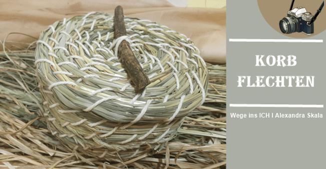 Graskorb flechten-Korb aus Naturmaterialien binden
