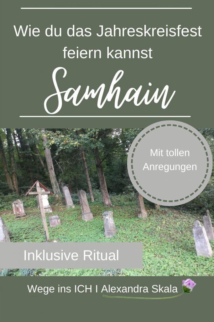 Alter Friedhof-Samhain-Halloween-Ahnenfest-Ritual